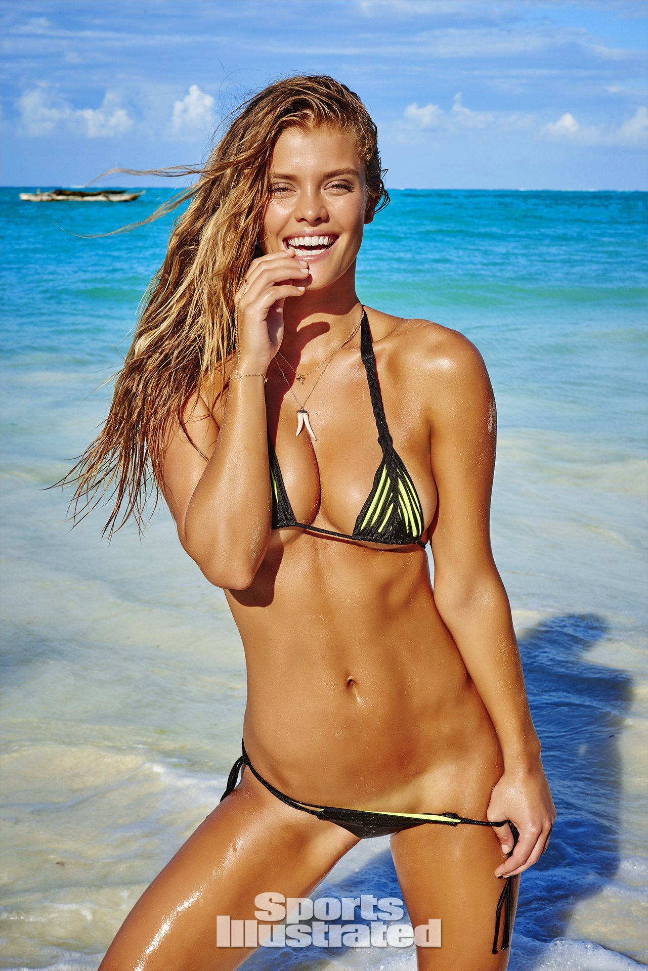 Nina Agdal was photographed by Ruven Afanador in Zanzibar. Swimsuit by Agent Provocateur.