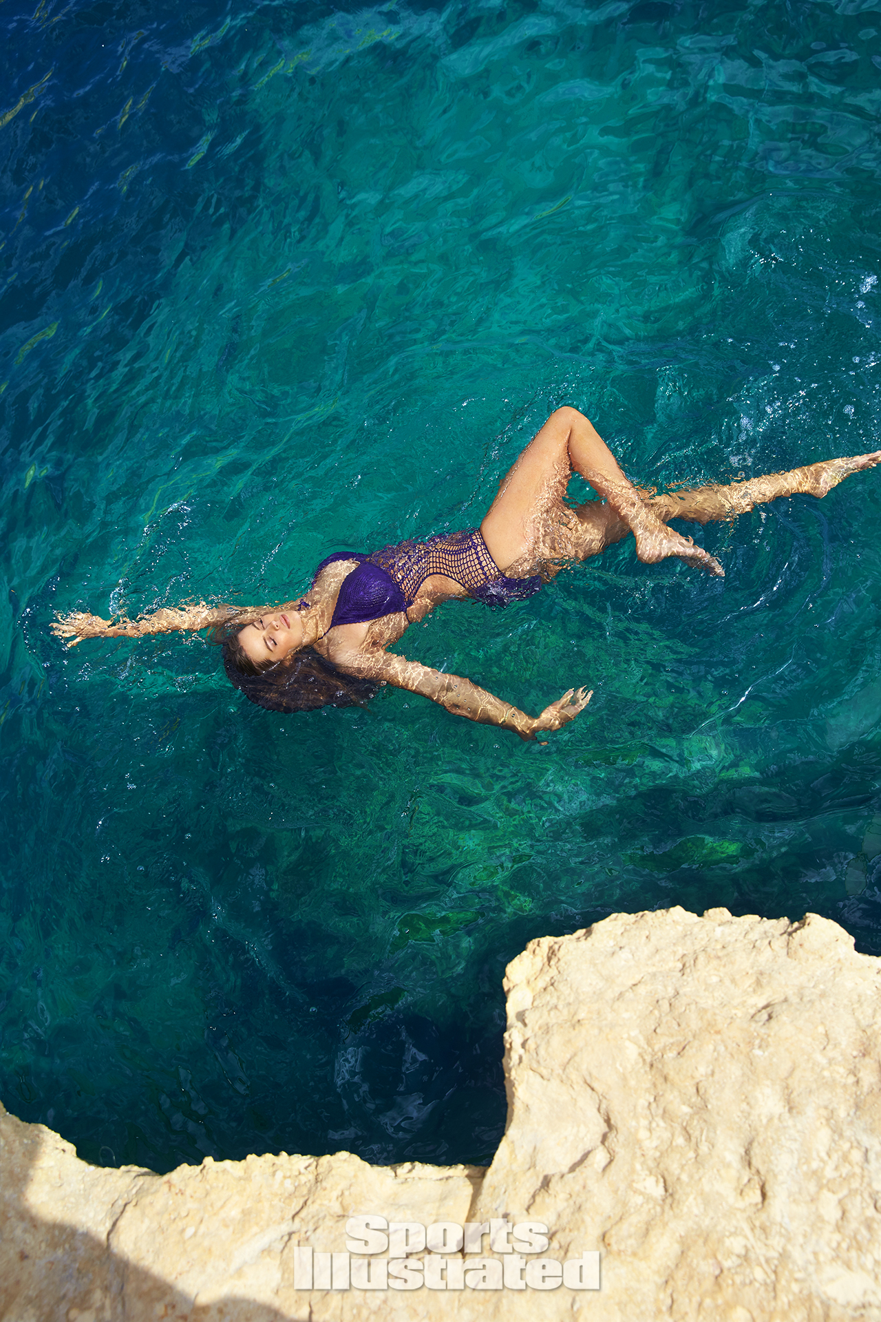 Robyn Lawley was photographed by Ben Watts in Malta. Swimsuit by Beauty & The Beach.