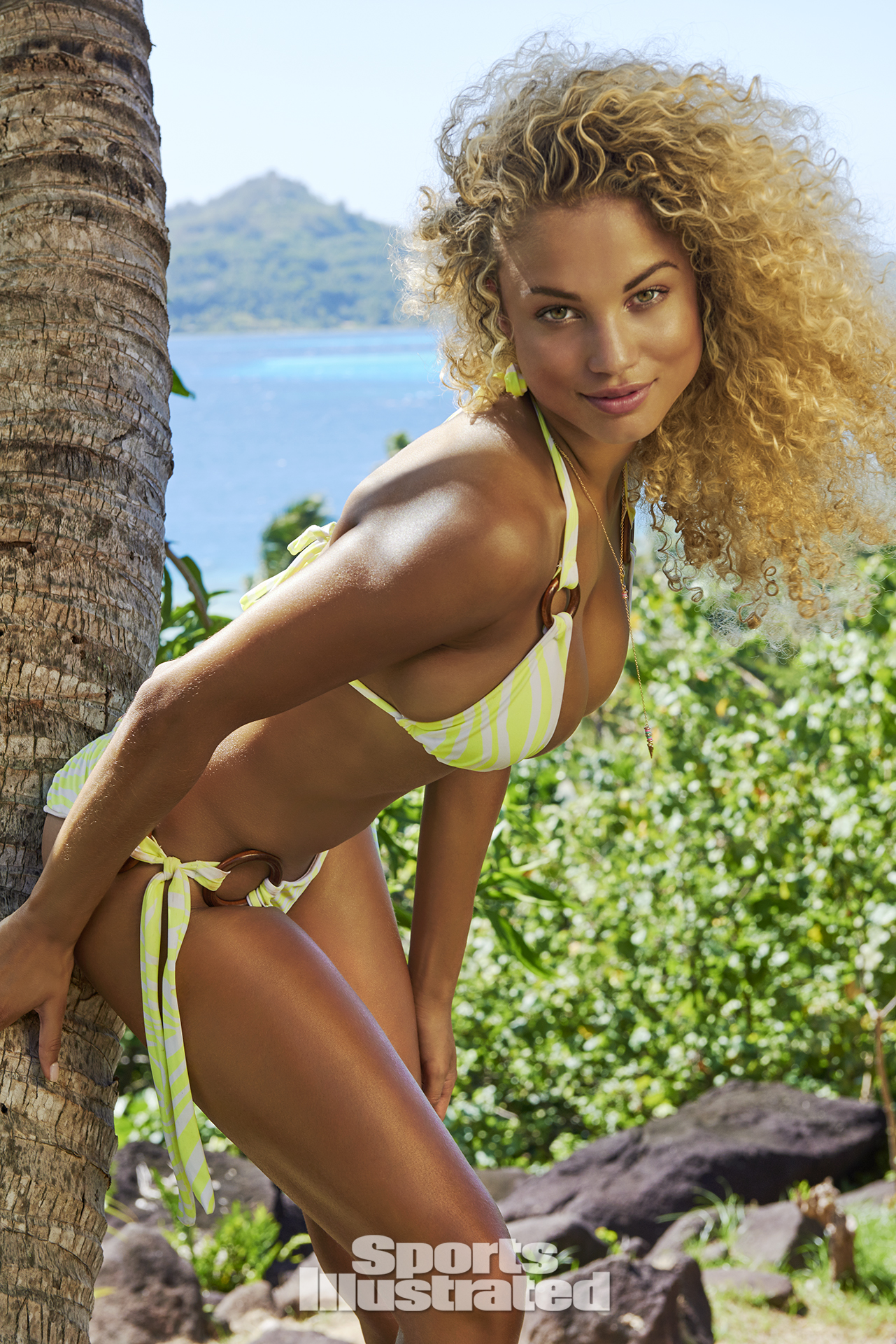 Rose Bertram was photographed by Yu Tsai in The Islands Of Tahiti. Swimsuit by CYNABABY SWIMWEAR.