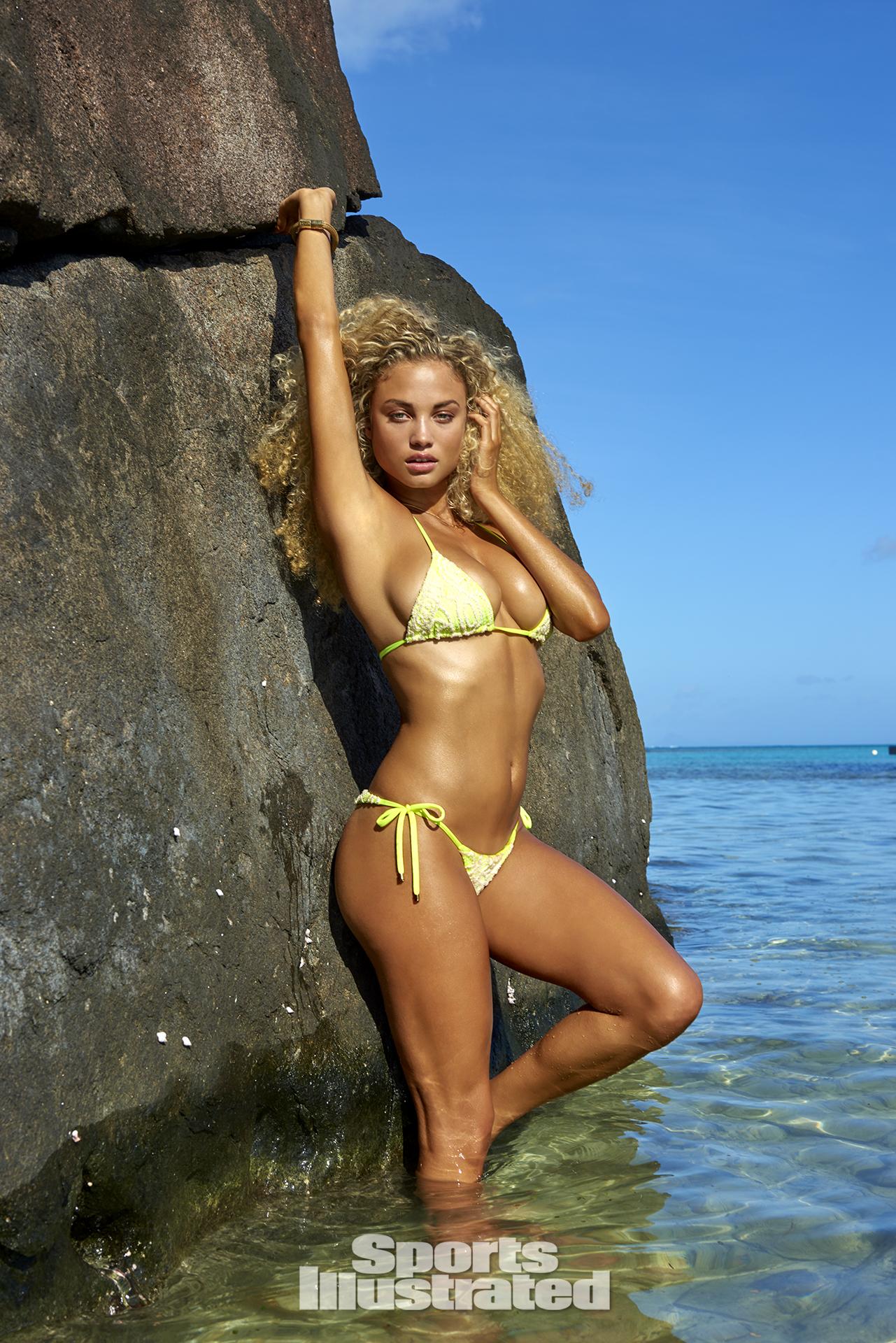 Rose Bertram was photographed by Yu Tsai in The Islands Of Tahiti. Swimsuit by Ola Vida.
