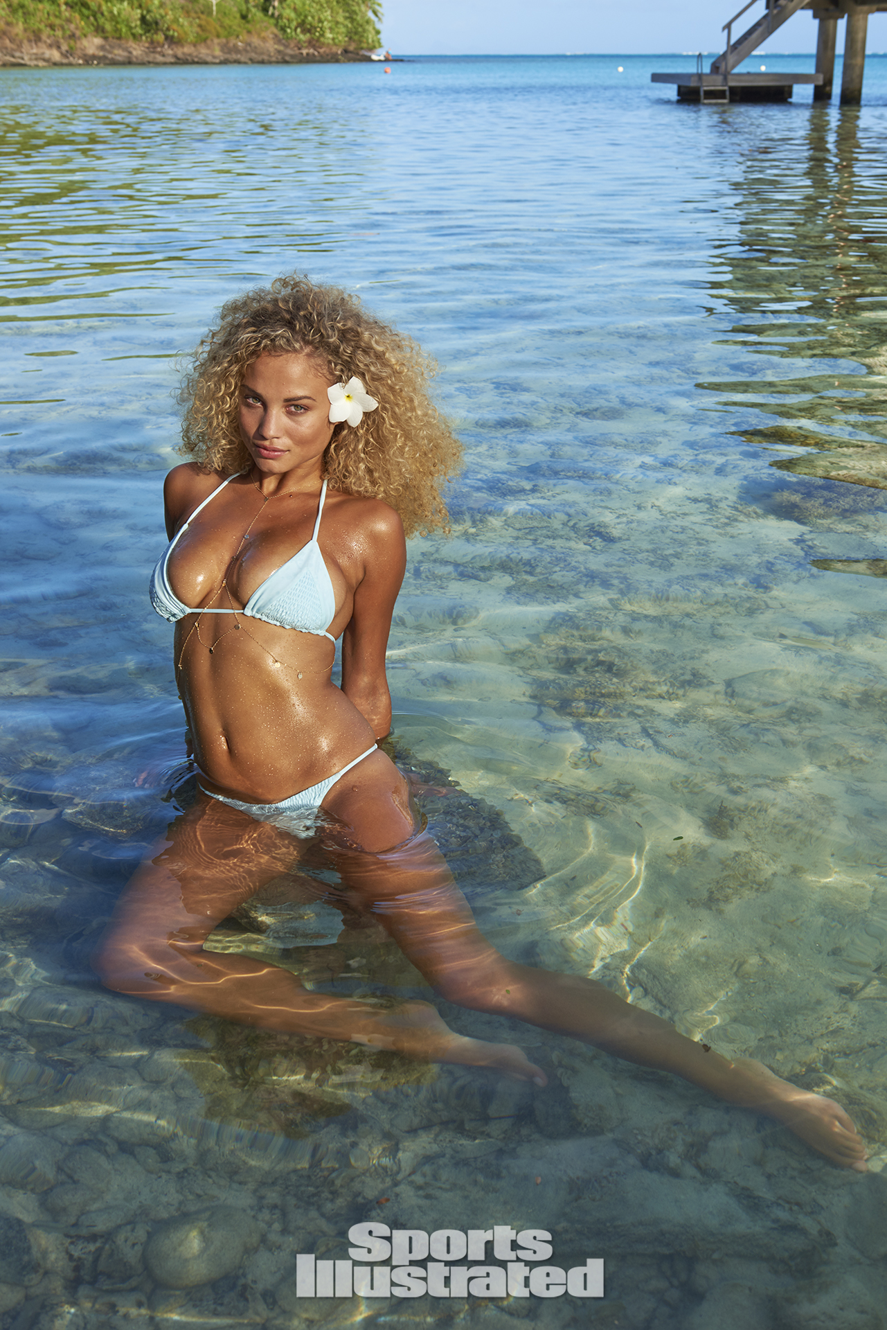 Rose Bertram was photographed by Yu Tsai in The Islands Of Tahiti. Swimsuit by Tori Praver Swimwear.