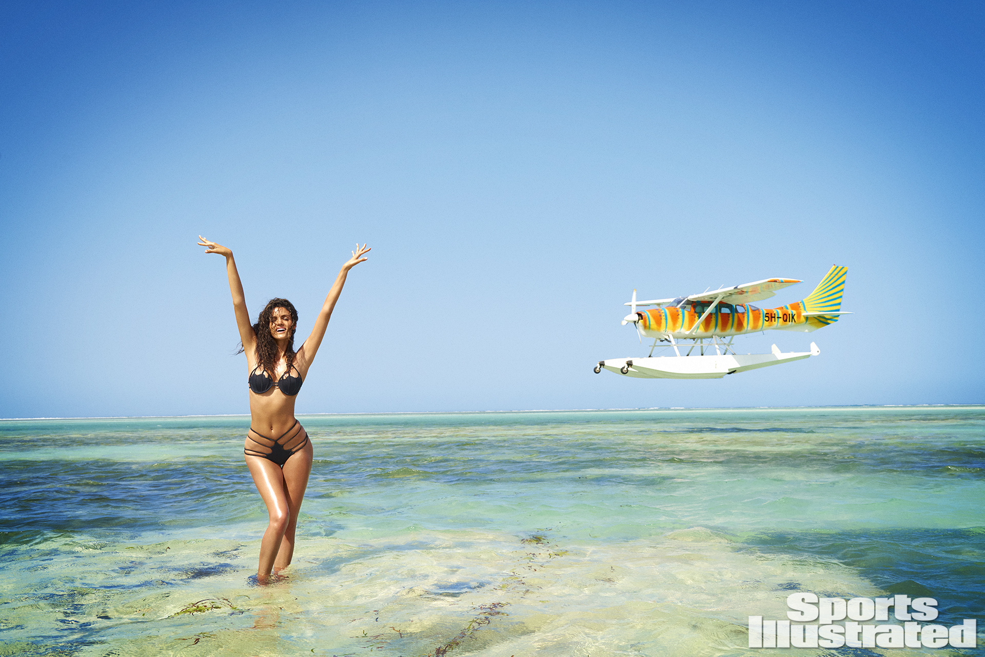 Sofia Resing was photographed by Ruven Afanador in Zanzibar. Swimsuit by Lee + Lani.