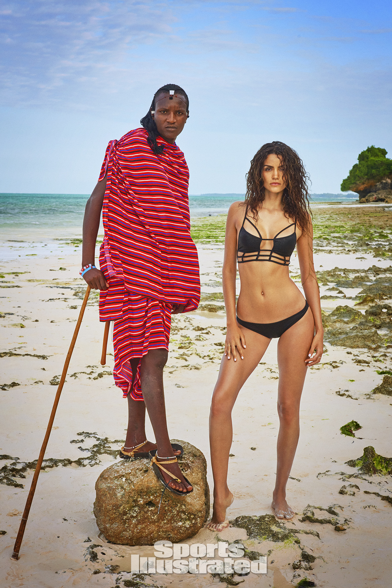 Sofia Resing was photographed by Ruven Afanador in Zanzibar. Swimsuit by ONE X ONETEASPOON.