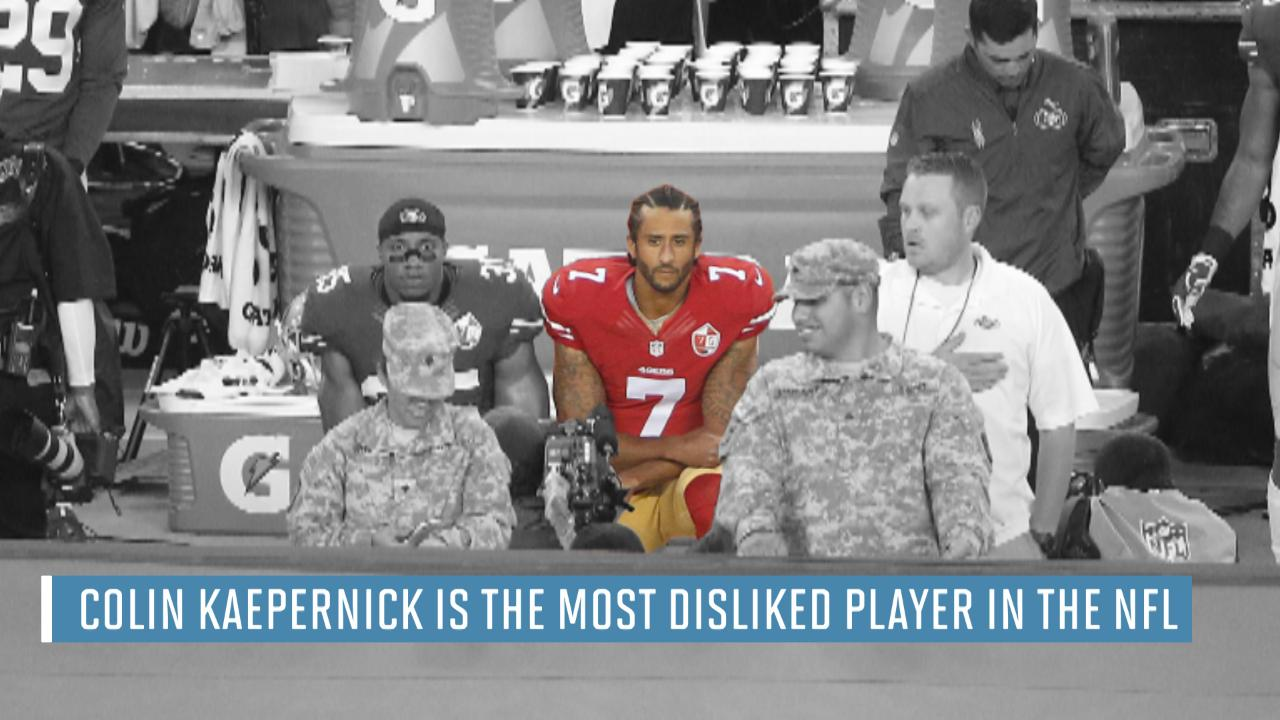 Colin Kaepernick voted most disliked player in NFL