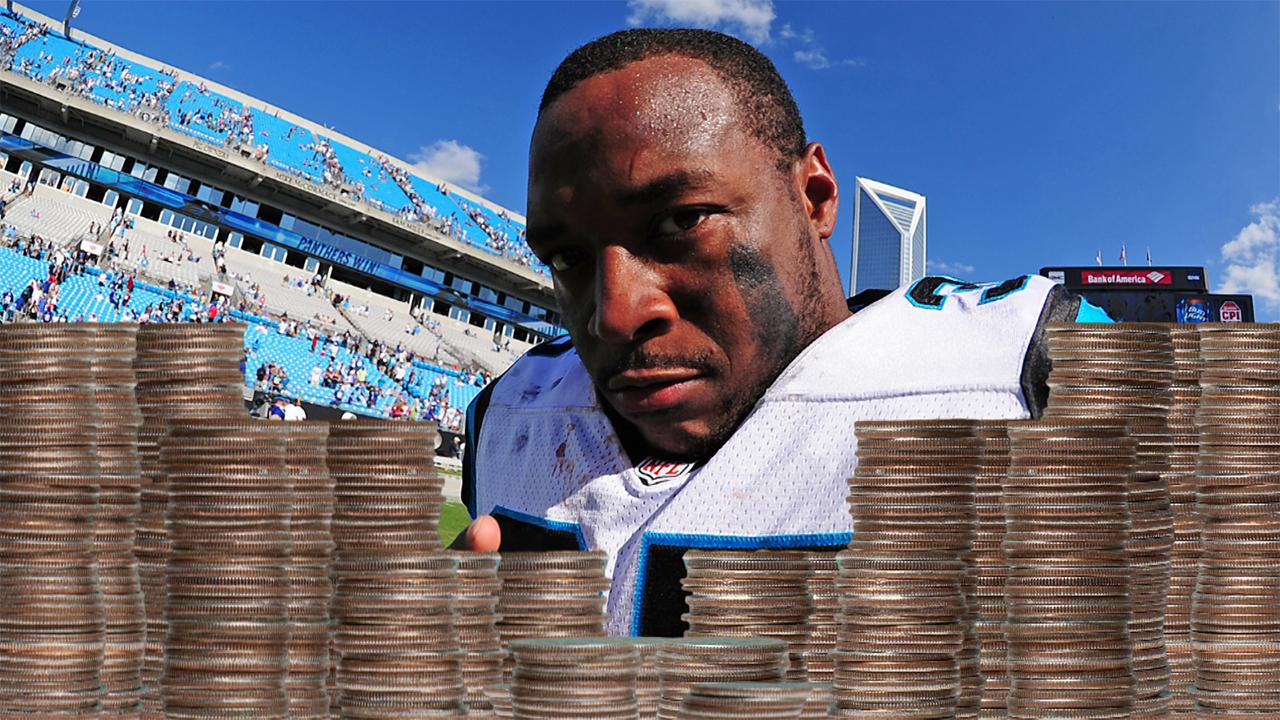 Car shop says angry Panthers RB Mike Tolbert paid $3,900 in coins