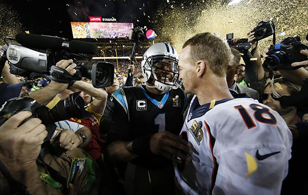 cam newton peyton manning super bowl handshake panthers broncos