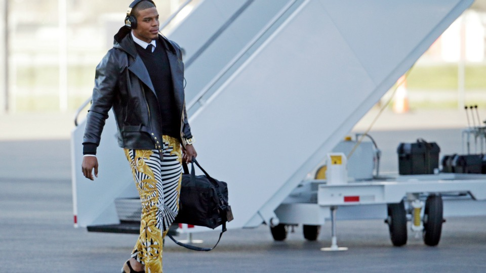 Get Panthers' Cam Newton's Versace pants look for less
