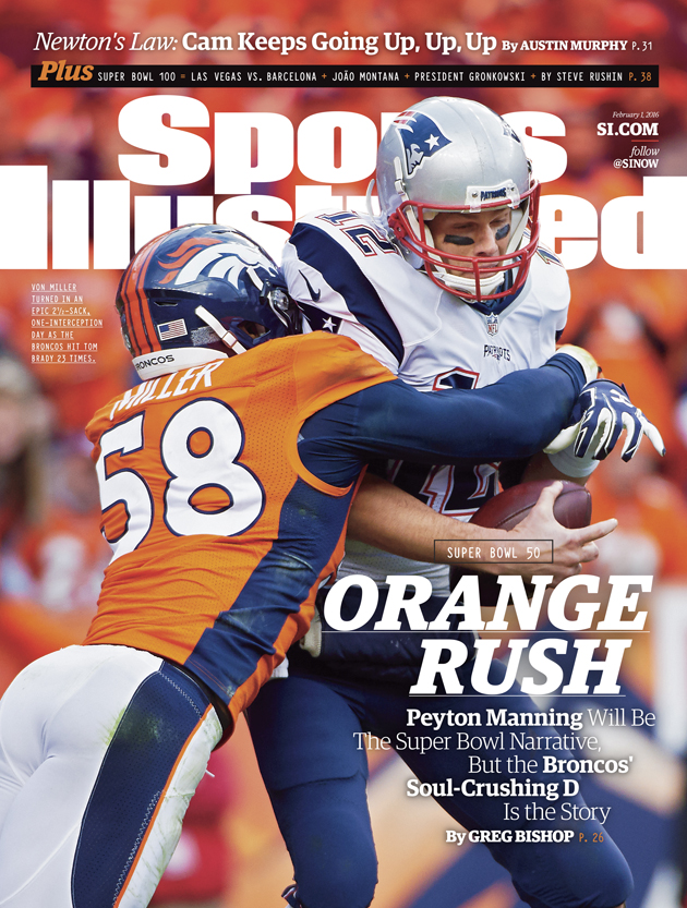 denver broncos defense sports illustrated cover super bowl