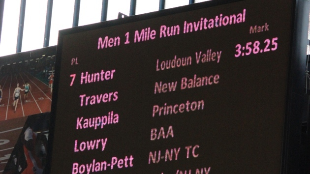 drew hunter high school mile record