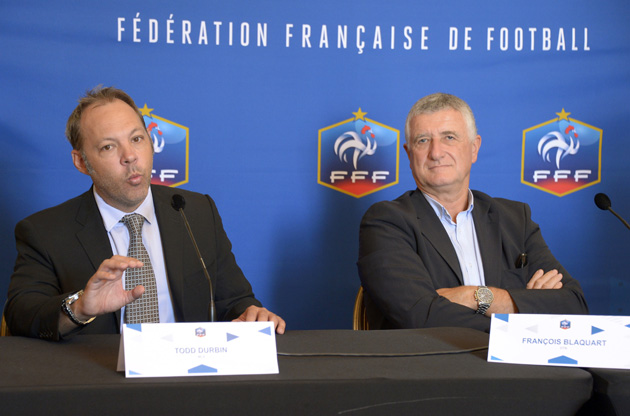 MLS executive VP Todd Durbin and the France Football Federation