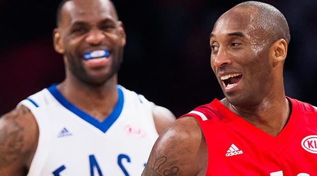 Kobe Bryant LeBron James NBA All-Star Game
