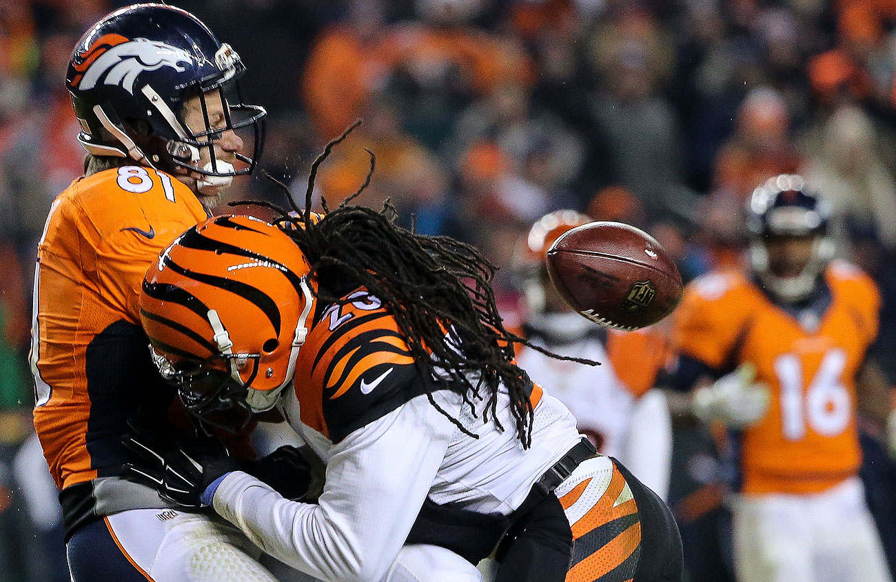 Reggie Nelson separated Owen Daniels from the football on this ferocious, but clean hit during a pivotal drive in Week 16.