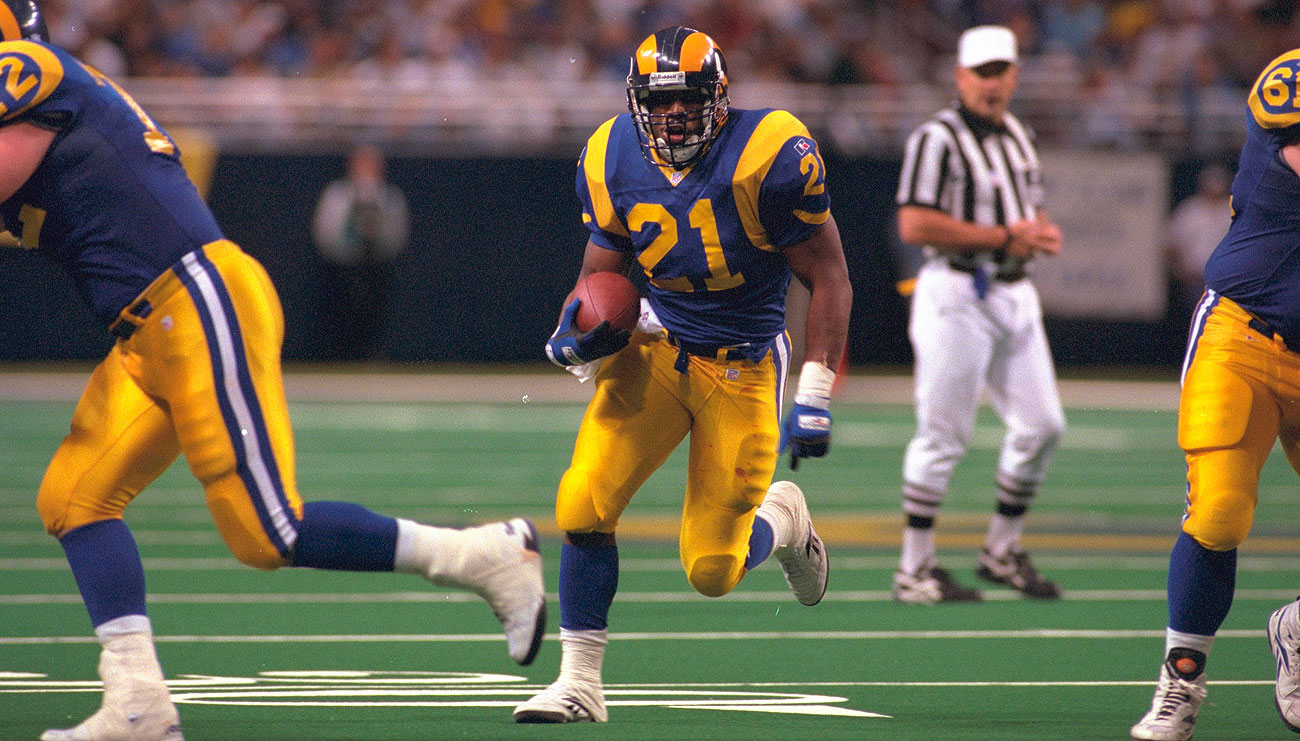 Drafted sixth overall in 1996, Lawrence Phillips rushed for 1,453 yards in parts of four seasons with three teams. He was out of the NFL by 1999.