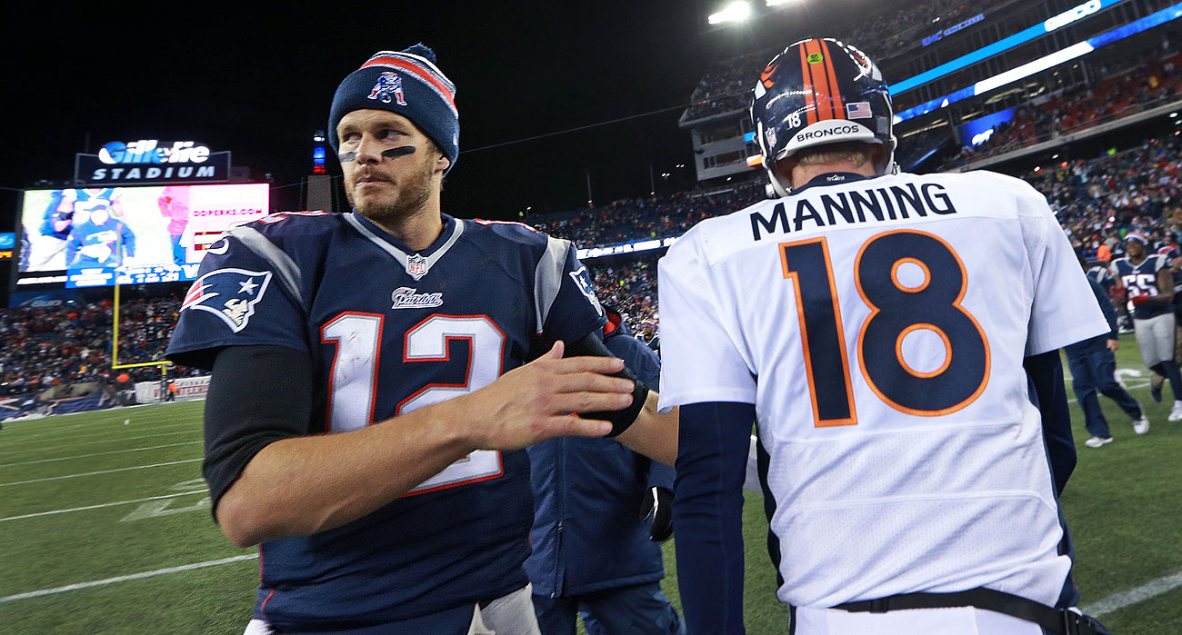 Tom Brady and Peyton Manning will meet for the 17th—and final?—time Sunday.