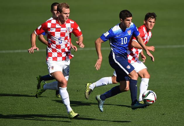 Christian Pulisic takes on Croatia at the U-17 World Cup for the USA