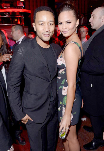 John Legend and Chrissy Teigen :: Michael Loccisano/Getty Images