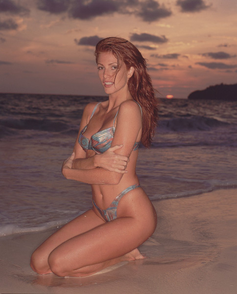 Angie Everhart - The Last Action Hero (1993),                             Jade (1995),                             Bordello of Blood (1996),                              Another 9 1/2 Weeks (1997),                             Take Me Home Tonight (2011) :: Walter Iooss Jr./SI
