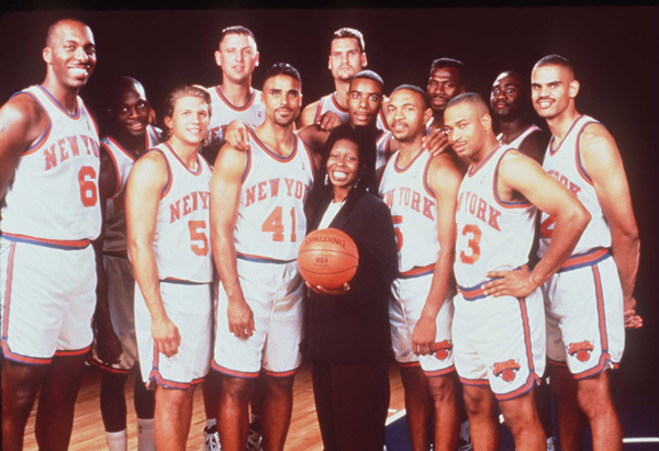 """EDDIE (1.5 stars): """"The movie features a lot of pro basketball players, who mostly do a good job of playing sanitized, toned-down versions of real-life athletes. The movie might have had more fun being more real. I didn't for a moment believe the Knicks w"""