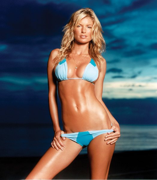 Si Swimsuit  Body Paint Marisa Miller