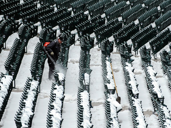 Every seat in Coors Field needed to be cleaned. (AP)