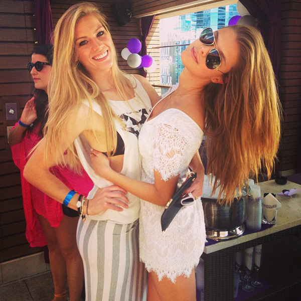@ninaagdal: At @marqueeLV dayclub with my lady! @lbeeezzy