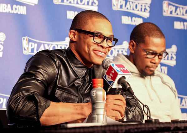 Russell Westbrook, Kevin Durant: Thunder, Game 2 vs. Rockets (Layne Murdoch Jr./NBAE via Getty Images)