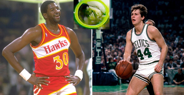 Danny Ainge received two stitches when Tree Rollins chomped on his finger during a 1983 altercation.