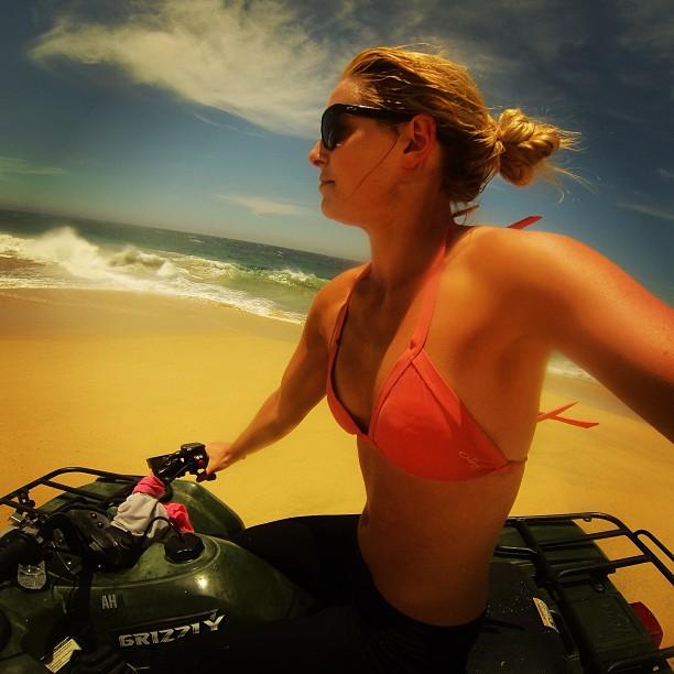 @lindseyvonn: Catching air on an ATV with my @gopro!! #funinthesun #toobaducantseeimintheair #imnotagoodphotographer