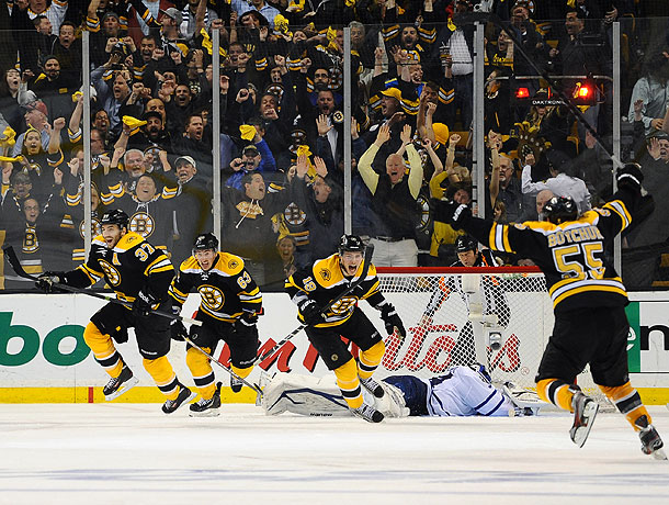 NHL playoffs: Bruins stun Leafs 5-4 in OT, win Game 7 with epic comeback   SI.com