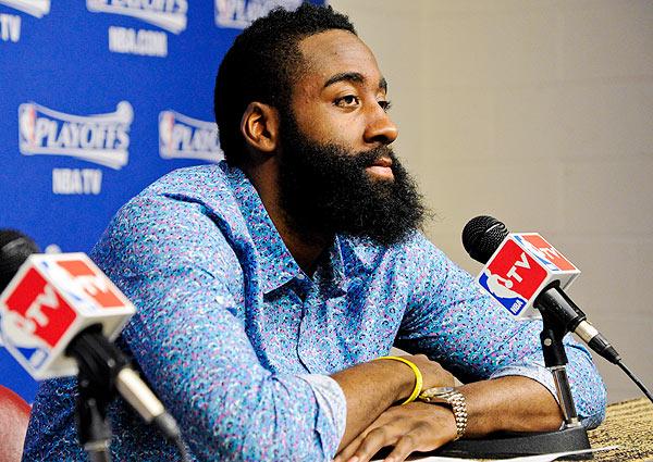 James Harden, Rockets: Game 4 vs. Thunder ( Bill Baptist/NBAE via Getty Images)