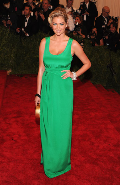 """Kate Upton at the """"PUNK: Chaos To Couture"""" Costume Institute Gala in NYC :: Jamie McCarthy/Getty Images"""