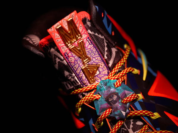 "A look at the tongue of the ""MVP"" version of the LeBron X. (Nike)"