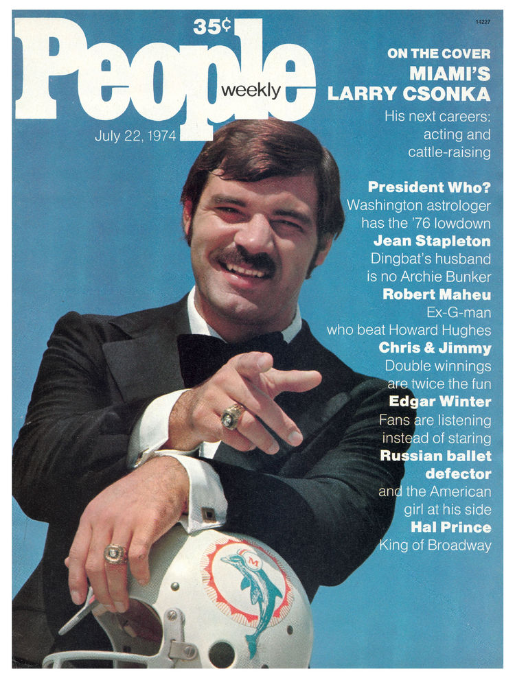 Larry Csonka (July 22, 1974): The fullback's fame was at an all-time high with the Dolphins coming off back-to-back Super Bowl wins.