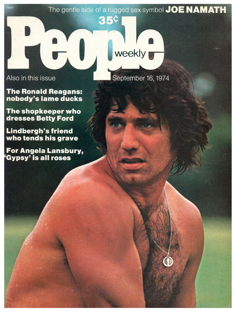 Joe Namath (Sept. 16, 1974): The first of Broadway Joe's two People cover appearances.