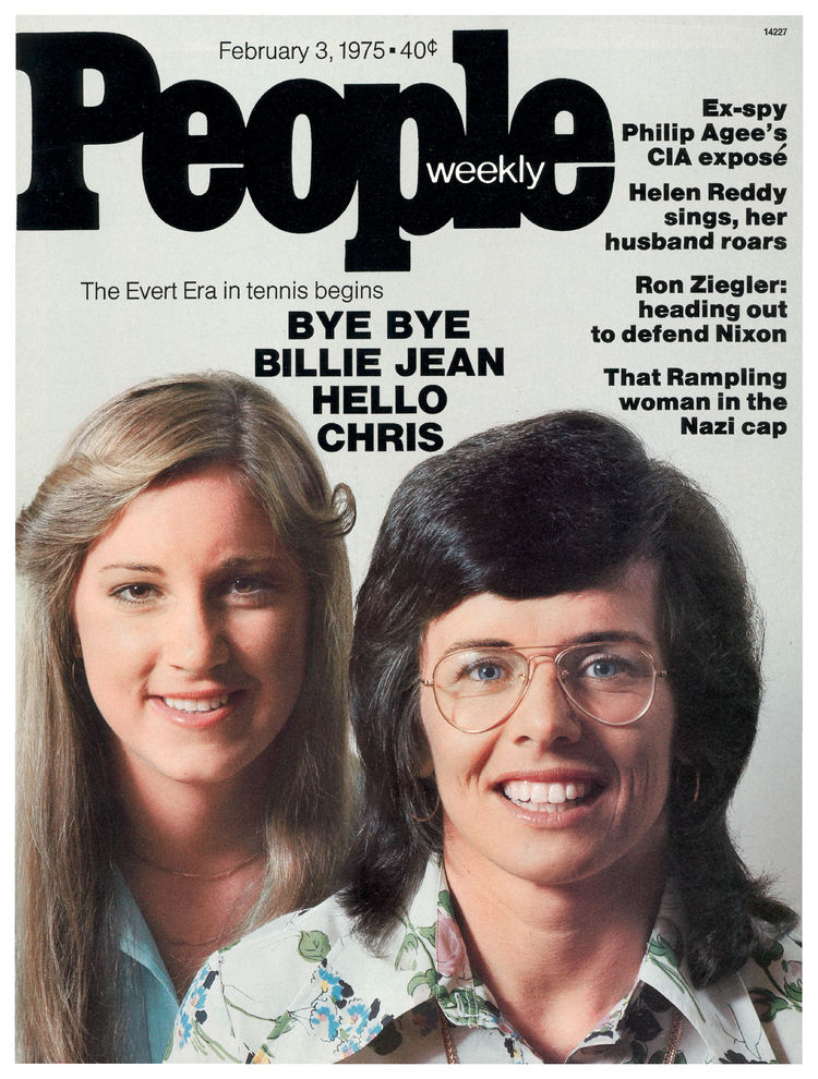 Chris Evert and Billie Jean King (Feb. 3, 1975): Fresh off Evert's breakthrough 1974 season, the torch was passed in women's tennis.