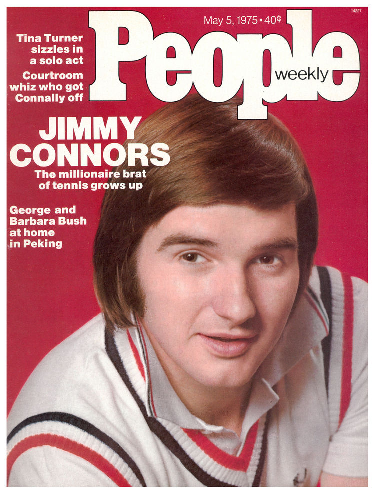 Jimmy Connors (May 5, 1975): The tennis champ was 22 when his image makeover got the cover treatment.