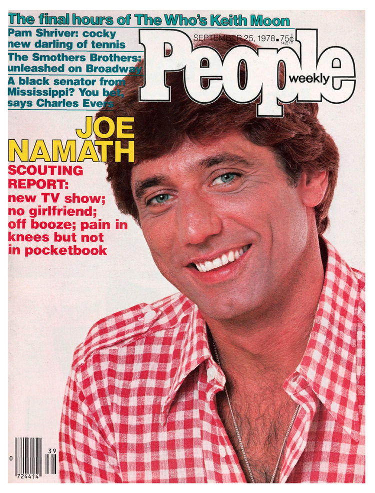 Joe Namath (Sept. 25, 1978): Namath managed the cover of a sports-heavy issue (note the article on Pam Shriver) despite the death of Who drummer Keith Moon.