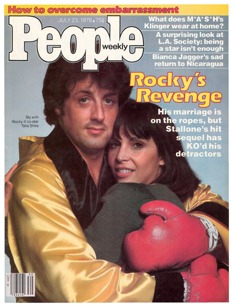 Sylvester Stallone and Talia Shire (July 23, 1979): Rocky II, one of the three highest-crossing flicks of 1979, landed Rocky and Adrian on the front.