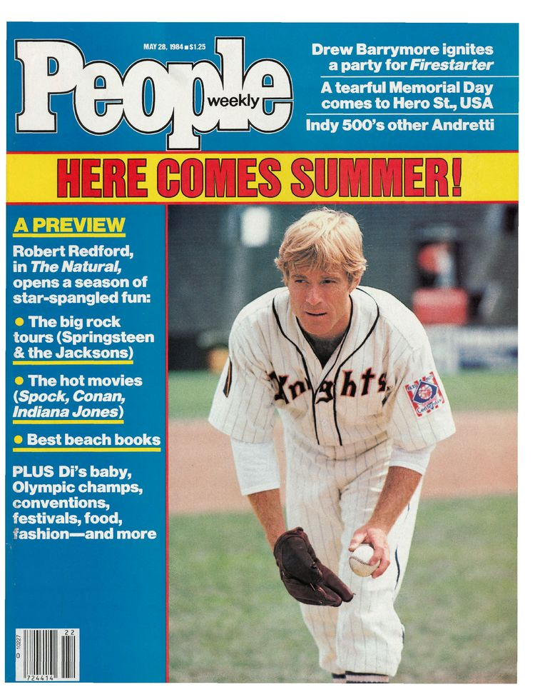 Robert Redford (May 28, 1984): The movie star appeared as Roy Hobbs near the release of The Natural.