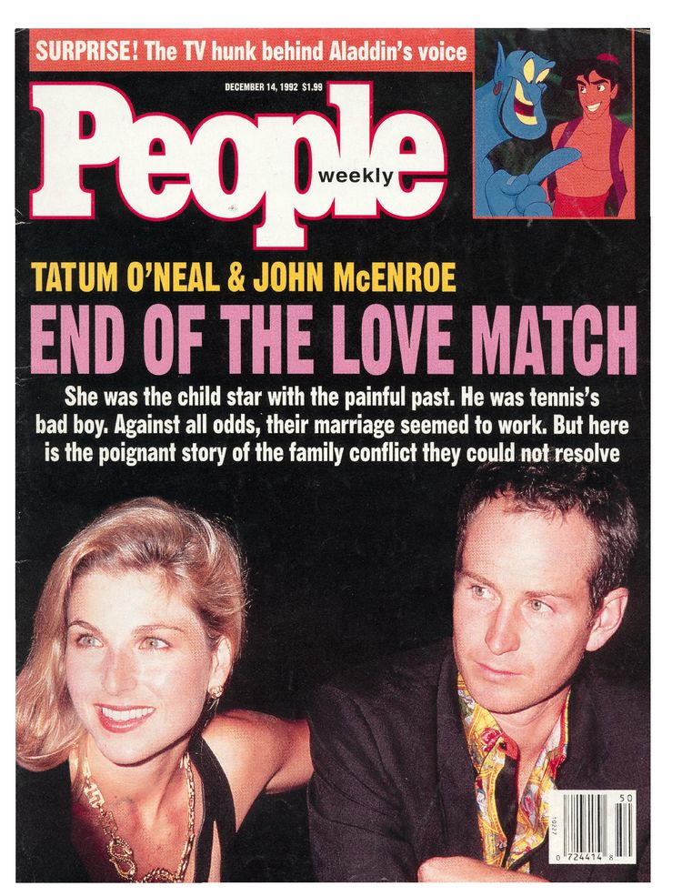 John McEnroe (Dec. 14, 1992): The tennis champ's highly public split with Tatum O'Neal made the cover in the early '90s.