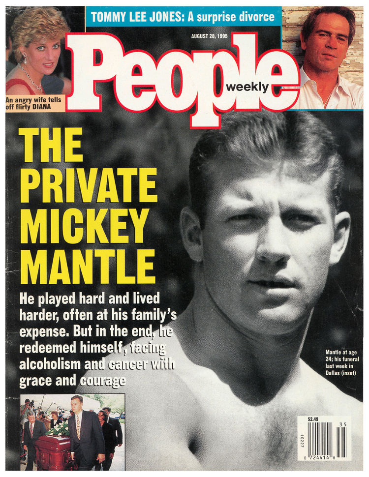 Mickey Mantle (Aug. 28, 1995): A classic photo of the Mick graced the cover shortly after his 1995 death.