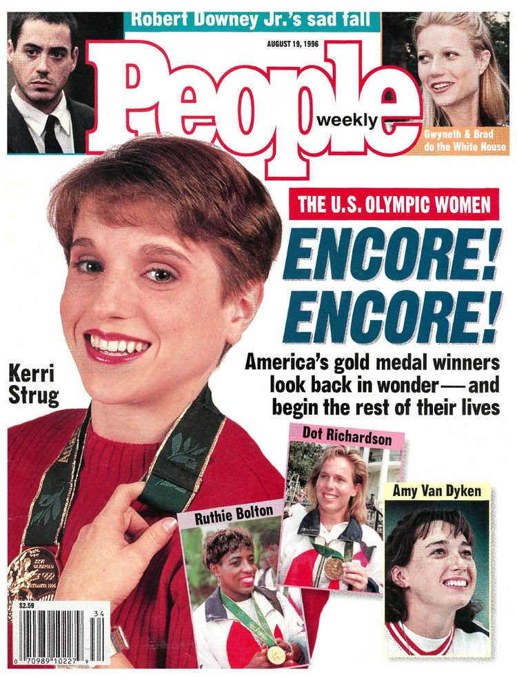 Kerri Strug (Aug. 19, 1996): The pint-sized Olympic gymnast headlined a cover feting America's Olympic heroes.