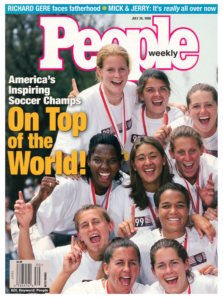 U.S. women's soccer team (July 26, 1999): The team's dramatic win in the Women's World Cup also earned them Sportswomen of the Year honors.