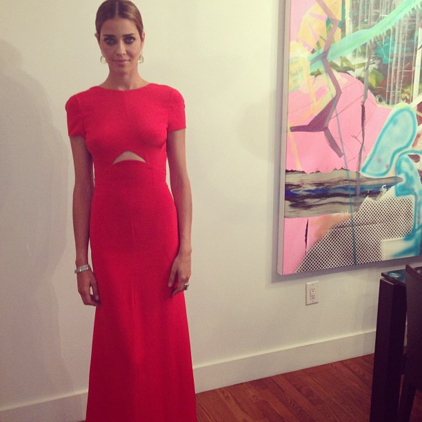 @anabbofficial: Thanks @pucci for the amazing dress. #amfar #newyork# love #amo #charity #