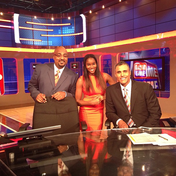 @damarislewis: Back in the studio!! 3D, Me, and Rick Fox! 8pm on NBA TV. Playoff Correspondent today! Tune in!