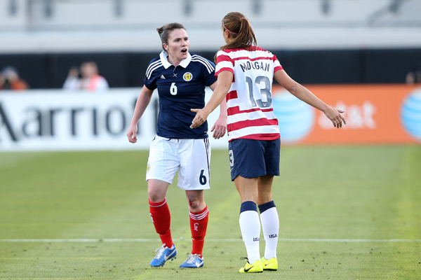 Joanne Love and Alex Morgan :: Scott Bales/YCJ/Icon SMI