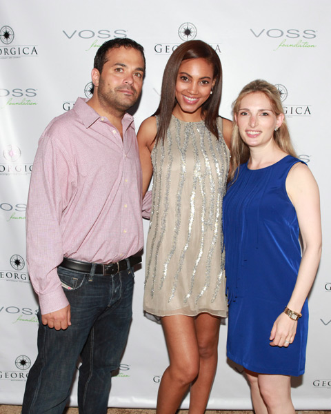 Antonio Fuccio (Georgica owner), Ariel Meredith and Kara Gerson (Voss Foundation Executive Director) :: Photo by Rob Rich