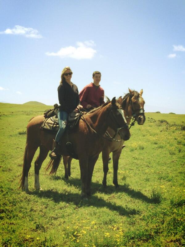 @KateUpton: Good day to go horseback riding with @David_Upton_