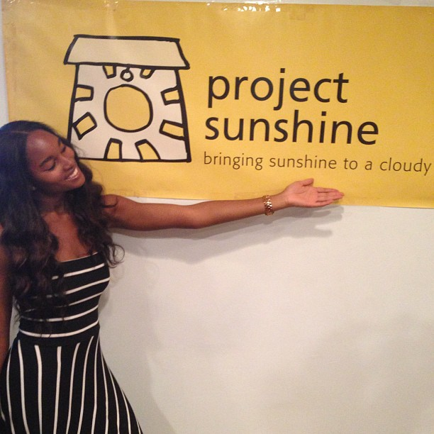 "@damarislewis: ""Bringing Sunshine to a cloudy DAY"" @ProjectSunshine Volunteer appreciation event. Thanks guys!!!!"