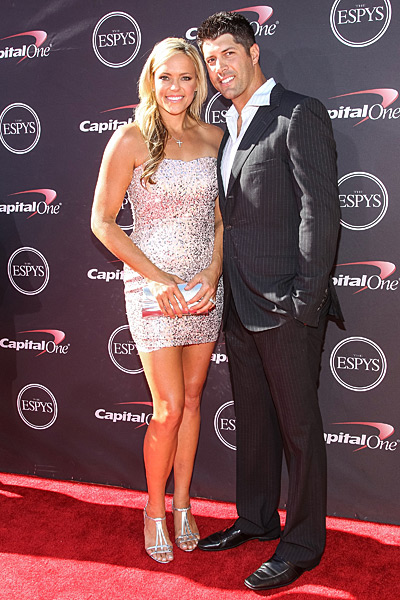 Jennie Finch and husband Casey Daigle :: Paul A. Hebert/Getty Images
